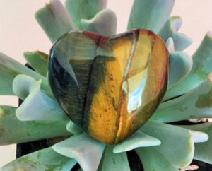 Tiger's Eye Crystal Heart