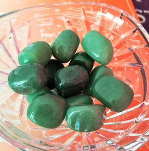Green Aventurine Polished Tumbled Stones Set of 5