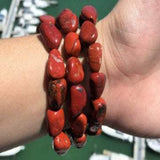 Red Jasper Bracelet Set Large Beads