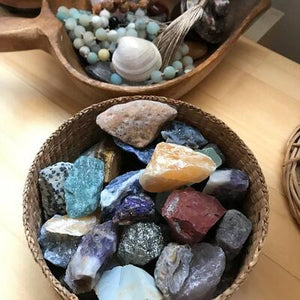 Raw Crystal and Stones
