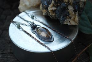 Marquis Golden Rutile Quartz Necklace