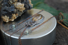 Load image into Gallery viewer, Marquis Golden Rutile Quartz Necklace