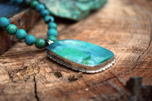 Load image into Gallery viewer, Clarity - Gem silica chrysacolla & genuine turquoise beaded choker necklace