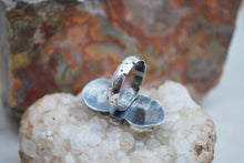 Load image into Gallery viewer, Genuine turquoise twin stone ring in sterling silver