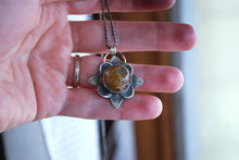 Load image into Gallery viewer, Golden rutilated quartz sterling silver pendant