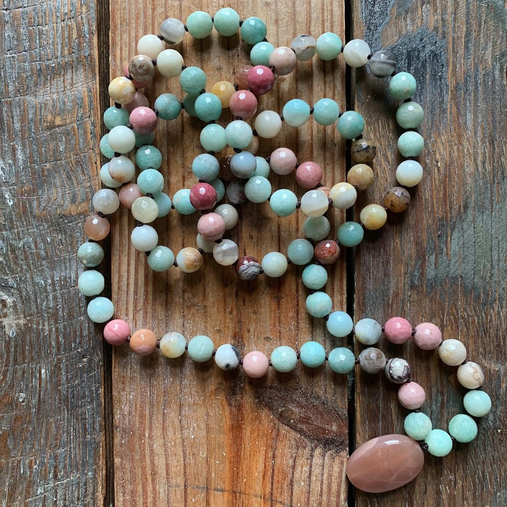 Exclusive Dharma Drops Handknotted Mala by Spiritual Junkies