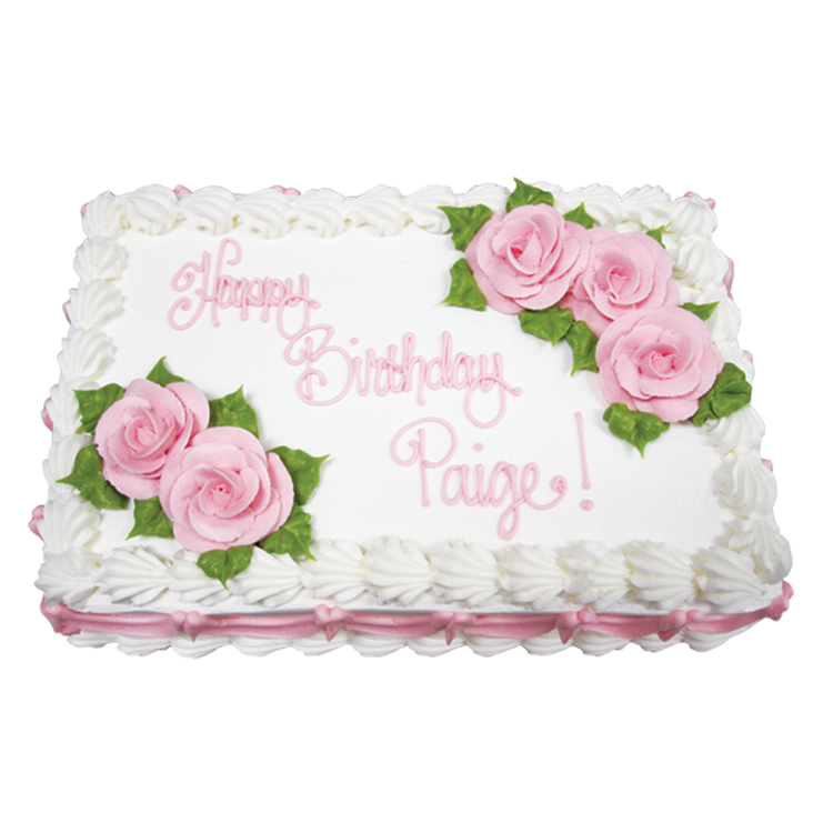 Roses & Swags (Sheet Cake only)