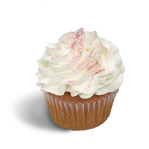 RR White Chocolate Raspberry Cupcake