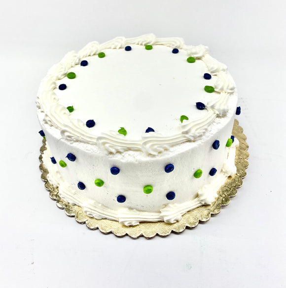 "RR 8"" DECORATIONS VARY White / White Cake"
