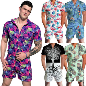 Playsuits de mangas cortas