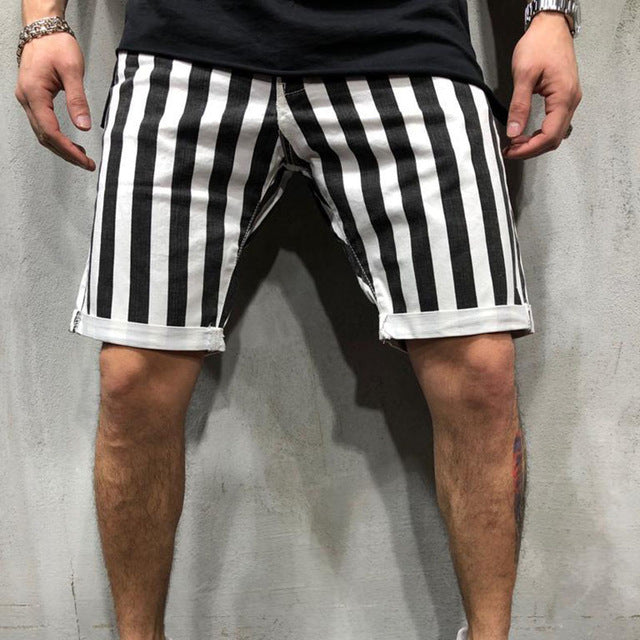 Black and White Joggers Short
