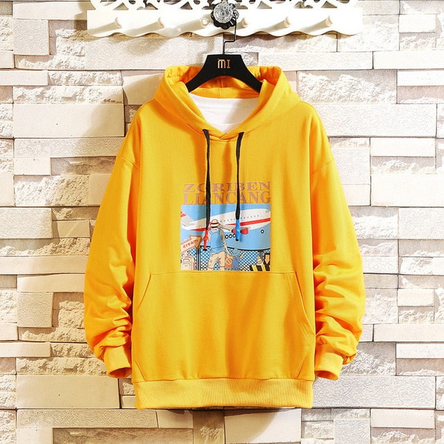 Hip Hop Hoddies Yellow