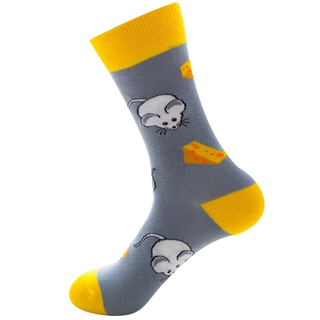 Funny Socks Good Quality mouse and cheese