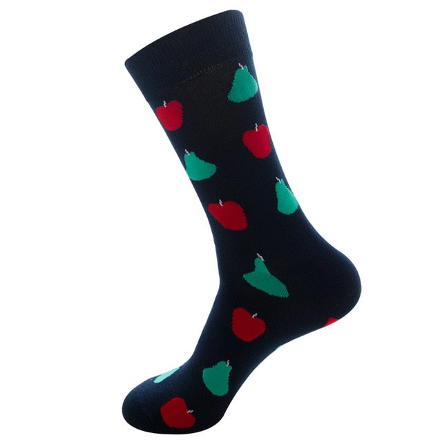 Funny Socks Good Quality Red Apple