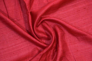 Red Colour Tussar Silk