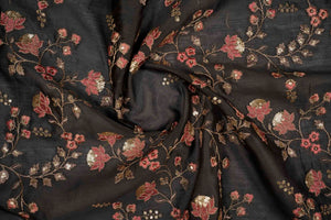Lotus Jaal with Sequin Touch On Silk Chanderi