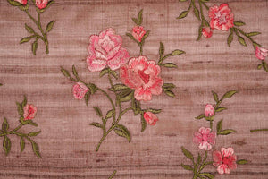 Floral Buta in dense setting On Tussar Silk