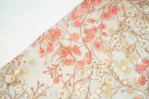Floral Vine On Silk Organza