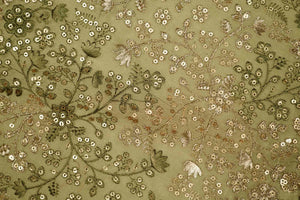 Star Jaal On Silk Chanderi With Sequin Touch
