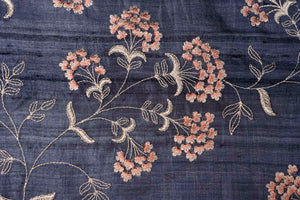 Subtle Floral Jaal On Tussar Silk
