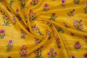 Array of Floral Butas On Tussar Silk
