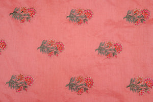 Floral Buta With Zari Touch On Silk Chanderi