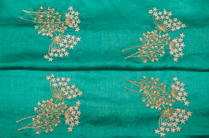 Intricate Zari Buta on Silk Chanderi