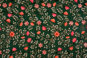 Heavy Floral Jaal with Sequin Touch On Silk Chanderi