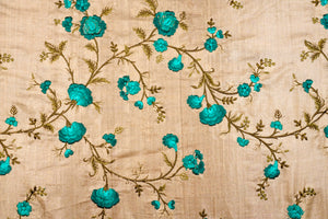 Floral Jaal On Tussar Silk
