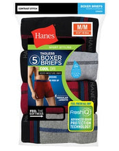 Load image into Gallery viewer, Men's FreshIQ™ Sport-Inspired Boxer Briefs 5-Pack