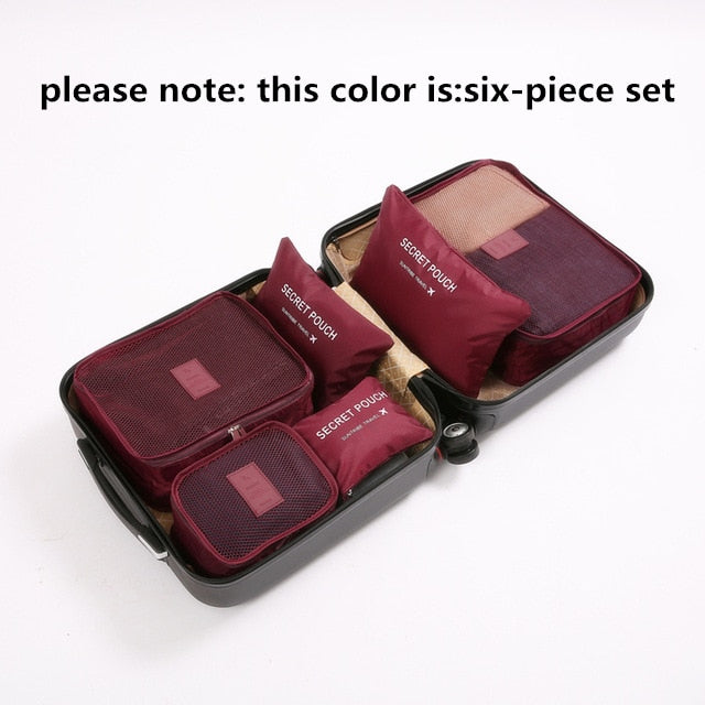 HQ 9-piece Suitcase Organize