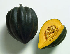 Roasted Acorn Squash drizzled with TheraBee Honey
