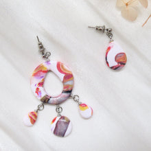 Load image into Gallery viewer, Asymmetric Polymer Clay Cane Earrings