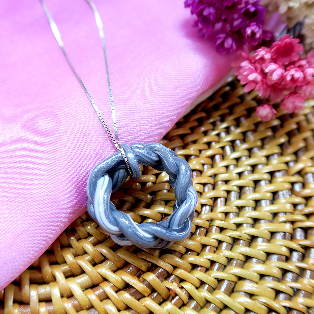 Royal Black Braids Pendant