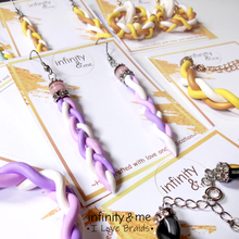 Load image into Gallery viewer, Sweet Lavender Braids Earrings