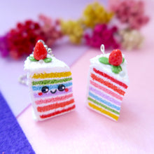 Load image into Gallery viewer, Rainbow Cake Delight Keychain