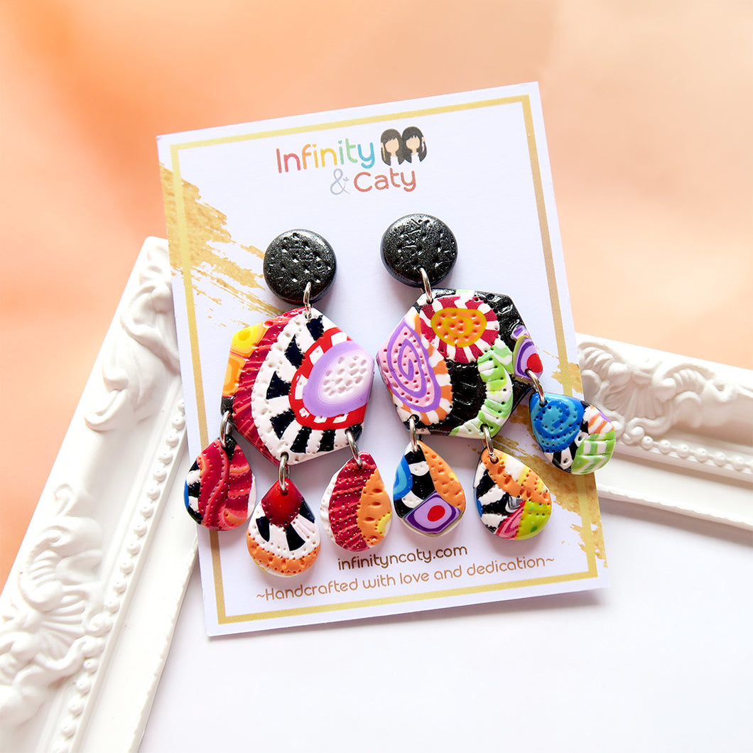 Color Fiesta 2.0 Earrings - Scarlett