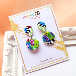 Color Fiesta 2.0 Earrings - Olive