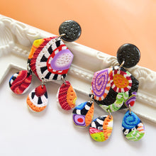 Load image into Gallery viewer, Color Fiesta 2.0 Earrings - Scarlett