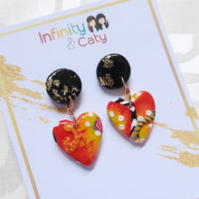 Load image into Gallery viewer, Color Fiesta Heart Earrings