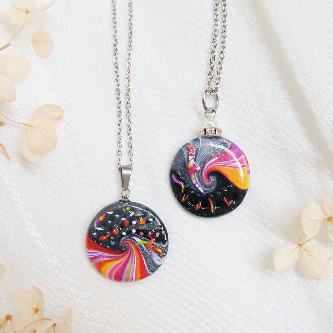 Colourful Swirl Abstract Pendant