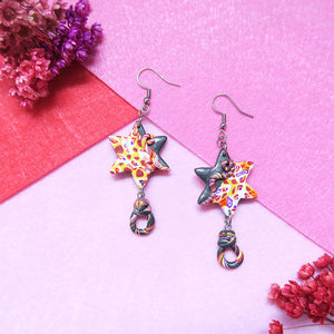 Starry Dreams Earrings with cane colors