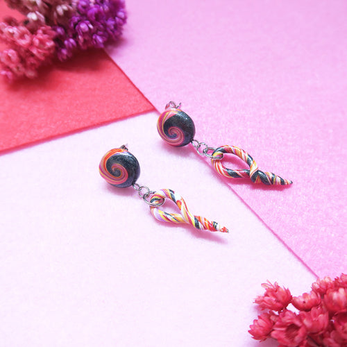 Galaxy Dreams Twirl Earrings