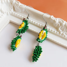 Load image into Gallery viewer, Durain mao shan wang polymer clay earrings