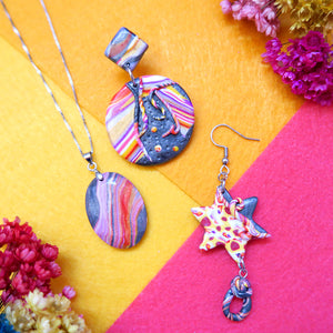 Combination of Starry Dreams Earrings and Pendant