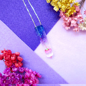 Galaxy Sweet Floral Resin Pendant