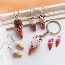 Load image into Gallery viewer, Dark Choco Ice Cream Keychain