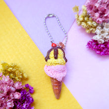 Load image into Gallery viewer, Handmade Mango/Strawberry and Chocolate/Salted Caramel Ice cream keychain