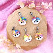 Load image into Gallery viewer, Little Buddy with Accessories Charm Polymer clay cute smile with hearts