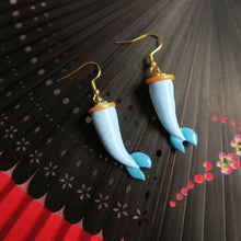 Load image into Gallery viewer, Sky Blue Mermaid Tail Earrings